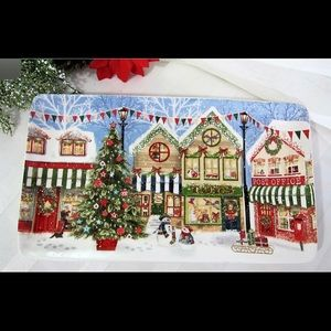 Pier 1 Christmas Village Platter 2018 Collectible